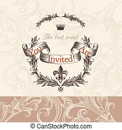 Luxury wedding invitation in Victor - Luxurious wedding...
