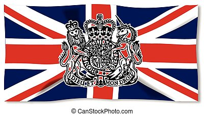 Union Jack With UK Seal - Union Jack flag of the United...