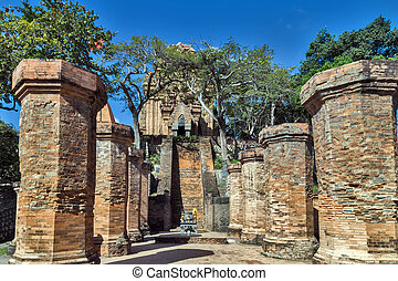 architecture Cham towers of po NagarVietnam - architecture...