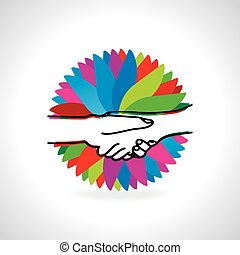 handshake concept vector illustration
