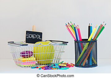 Concept of education Shopping Back to School - Concept of...