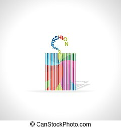 barcode like tag - colorful bar code like tag vector...