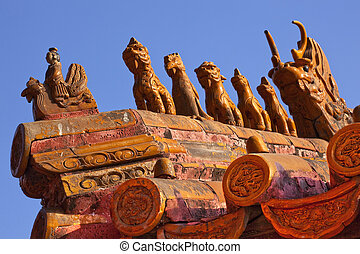 """Roof Figurines \""""Bitter End\"""" Yellow Roofs Gugong, Forbidden..."""