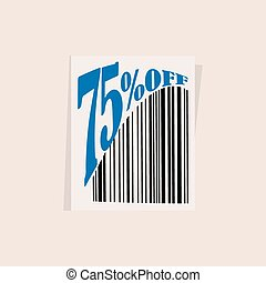 discount tag with barcode - discount tag with bar code...