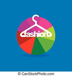 fashion hanger with circle vector