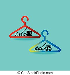 hanger concept with sale discount vector