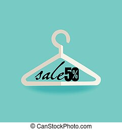 hanger concept with sale vector illustration