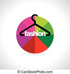 hanger inside of colorful circle vector