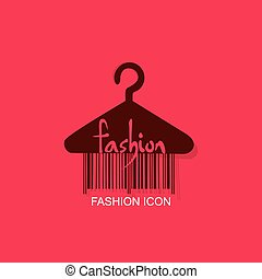 hanger with barcode fashion - hanger with bar code fashion...