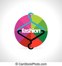 hanger with circle vector illustration