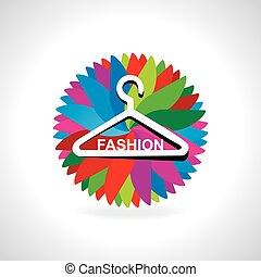 hanger with fashion abstract vector