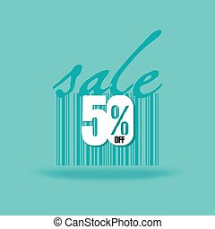 sale concept with green background vector