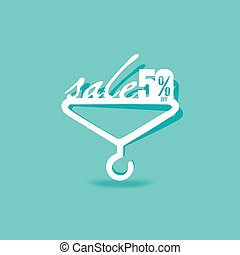 sale concept with hanger vector illustration