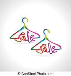 sale concept  - sale with hanger vector illustration