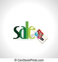 sale concept  - sale with tag discount vector illustration
