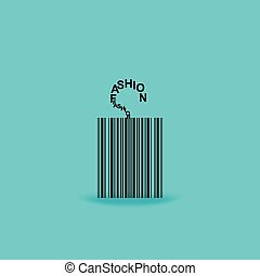 tag concept - tag created with bar code black vector...