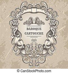 Antique and baroque cartouche