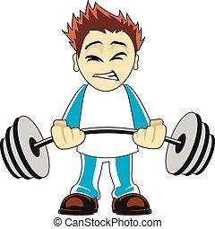 Cartoon bodybuilder - Illustration of a cartoon bodybuilder...