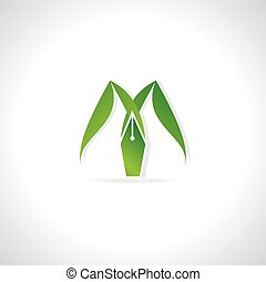 creative logo green leaf