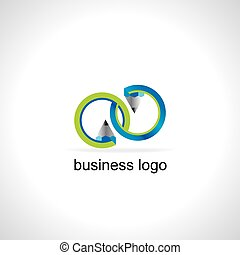 logo pencil with circle