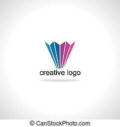 pencil symbol concept logo - creative pencil symbol concept