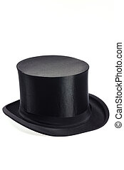 top hat - old black collapsible top hat
