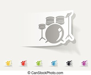 realistic design element drum set