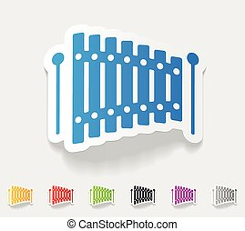 realistic design element xylophone