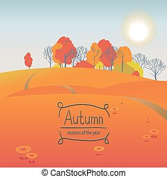 Vector times of year - Vector illustration of the seasons,...