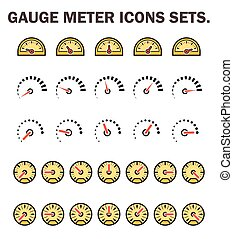 guage_meter_icon - Gauge meter icons sets