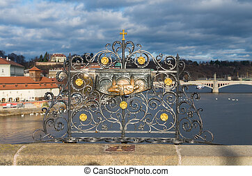 charles bridge decoration - Religious decoration on the...