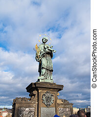 charles bridge statue - Religious statue on the famous...