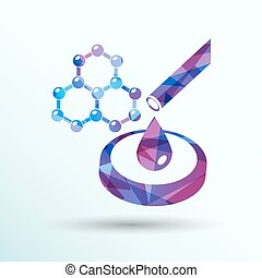 hexagonal abstract icons business and communication concepts...