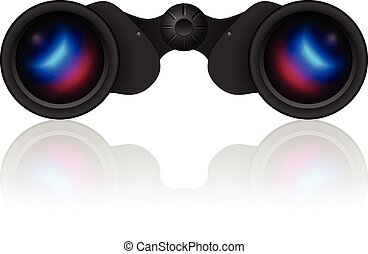 binoculars - Binoculars on a white background Vector...