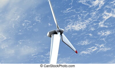 Wind Turbine - Clean energy electric power wind turbine.