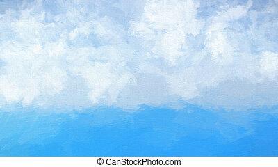 Abstract watercolour sea landscape