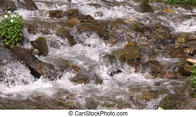Scenic Mountain Stream - a fast flowing scenic stream in the...