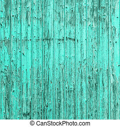 azul, turquesa, viejo, andrajoso, de madera, textura, Plano...