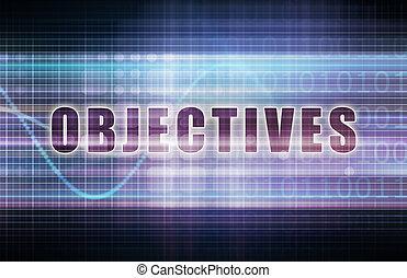 Objectives on a Tech Business Chart Art