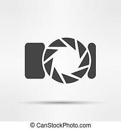 vector  photo camera isolated