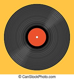 Vinyl record eps 10 vector illustration