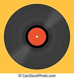 Vinyl record eps 10 vector illustration