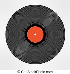 Vinyl record isolated eps 10 vector illustration