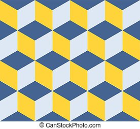 Geometric vector background. Cube shapes. Optical illusion