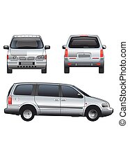 Vector service car template. White blank commercial vehicle...