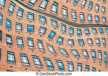 Surrealistic windows. - Abstract surrealistic windows in the...