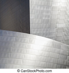 High tech metallic background Part of high tech building