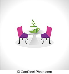 green tea concept vector illustration