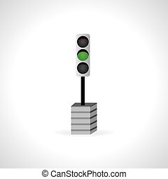 green signal - traffic green signal concept vector