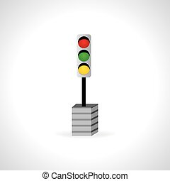 traffic signal with three color lights